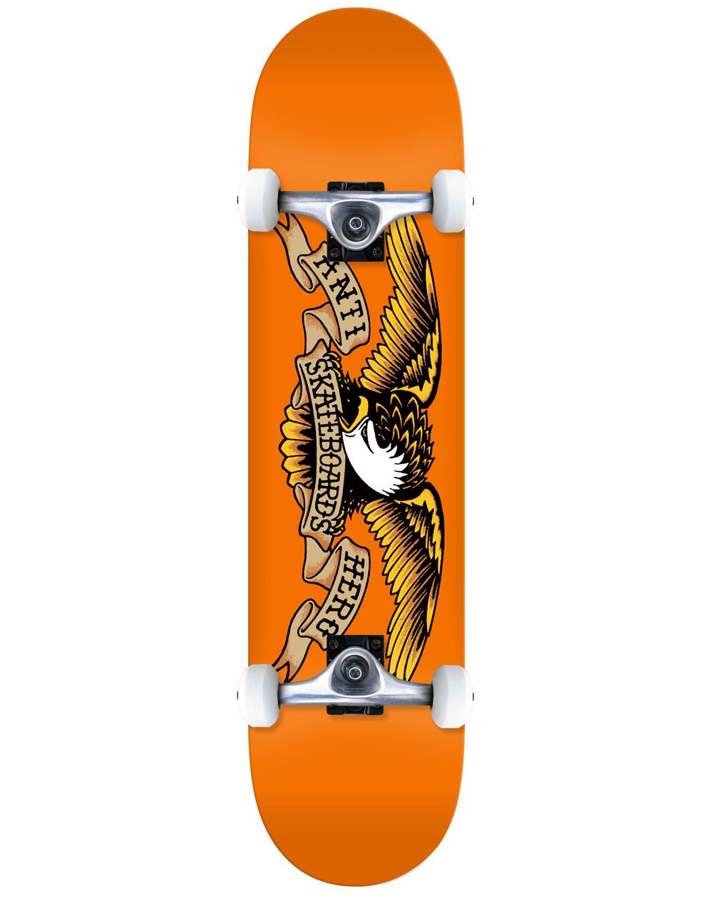 "Anti Hero Skateboard Classic Eagle 7.75"" Orange"