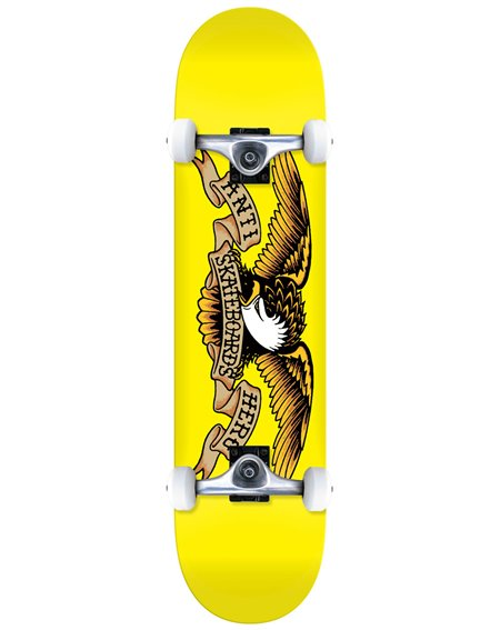"Anti Hero Skateboard Complète Classic Eagle 7.3"" Yellow"