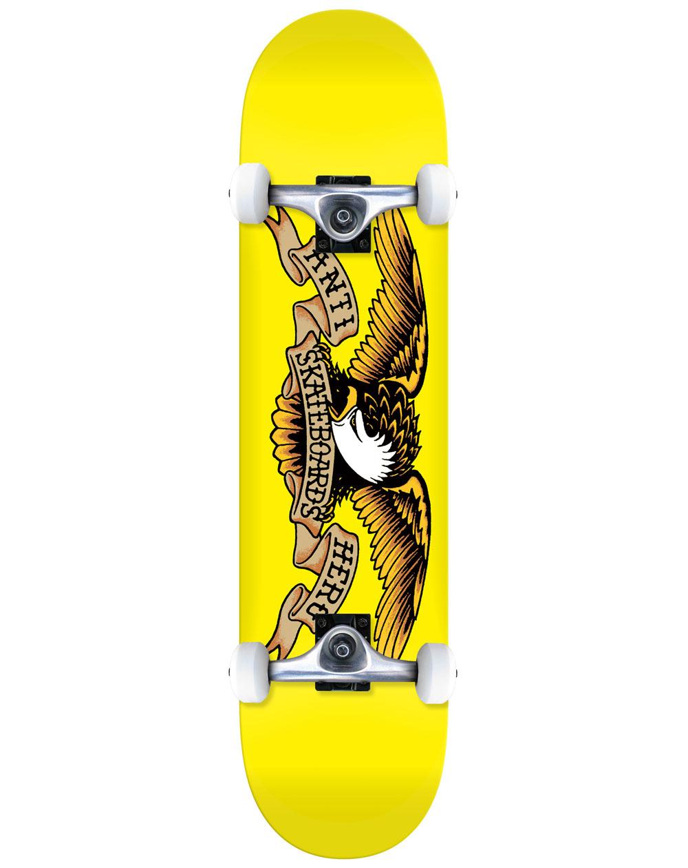 "Anti Hero Classic Eagle 7.3"" Complete Skateboard Yellow"