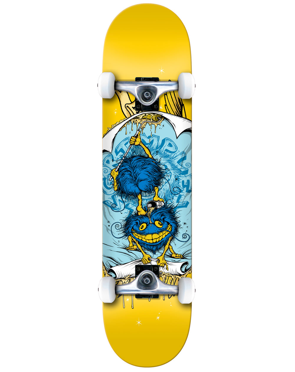 "Anti Hero Grimple Glue 8"" Complete Skateboard Yellow"