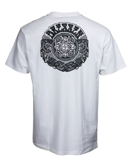 Santa Cruz Dressen Black Roses Camiseta para Hombre White