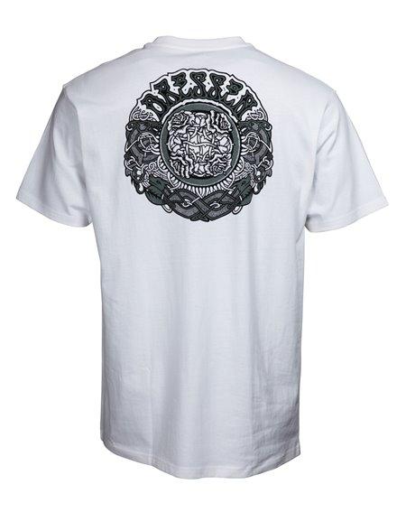 Santa Cruz Men's T-Shirt Dressen Black Roses White