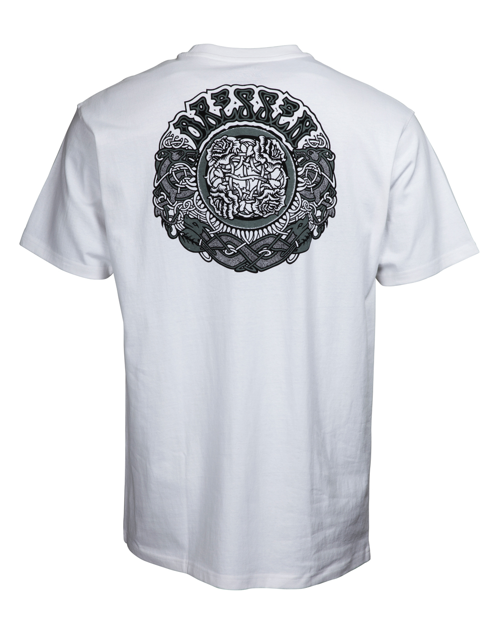 Santa Cruz Men's T-Shirt Dressen Black Roses White
