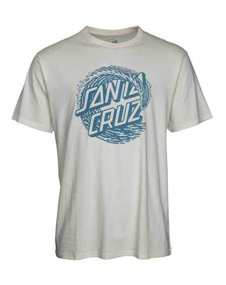 Santa Cruz Men's T-Shirt Whitecap Vintage White
