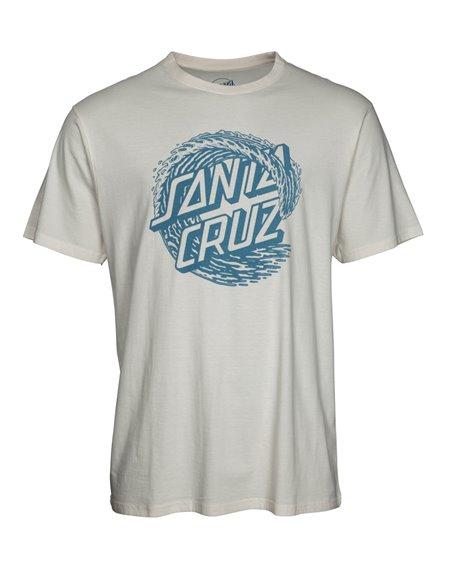 Santa Cruz Whitecap T-Shirt Uomo Vintage White