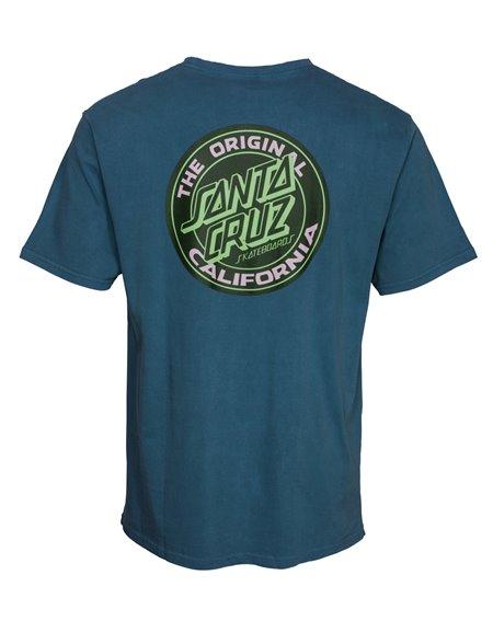 Santa Cruz Cali Dot Camiseta para Homem Teal