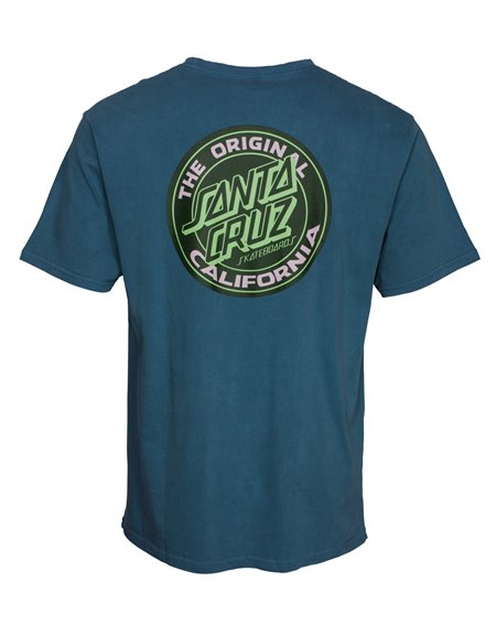 Santa Cruz Cali Dot T-Shirt Uomo Teal