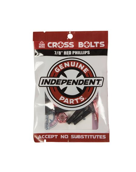 """Independent Tornillos Skateboard Genuine Parts 7/8"""" Phillips Black/Red"""