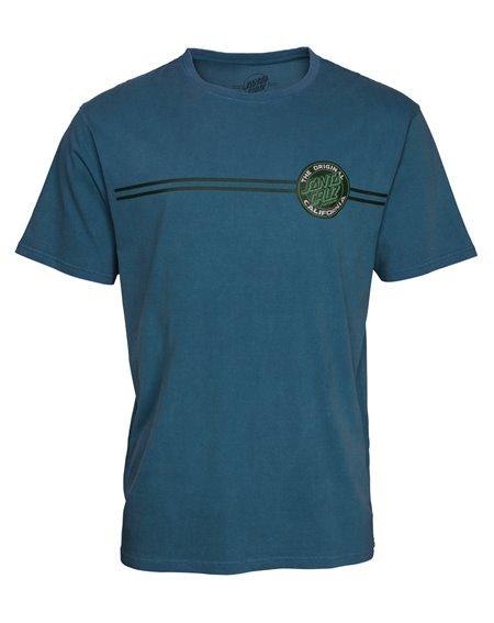 Santa Cruz Cali Dot T-Shirt Uomo Teal