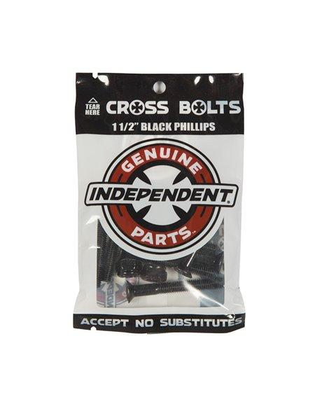 """Independent Genuine Parts 1.50"""" Phillips Skateboard Hardware Set Black"""