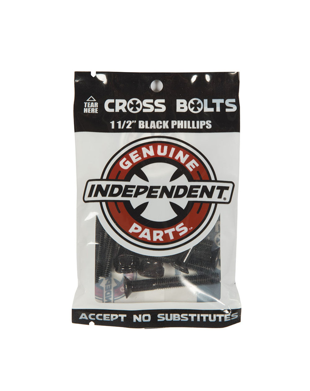 """Independent Parafusos de Base Skate Genuine Parts 1.50"""" Phillips Black"""