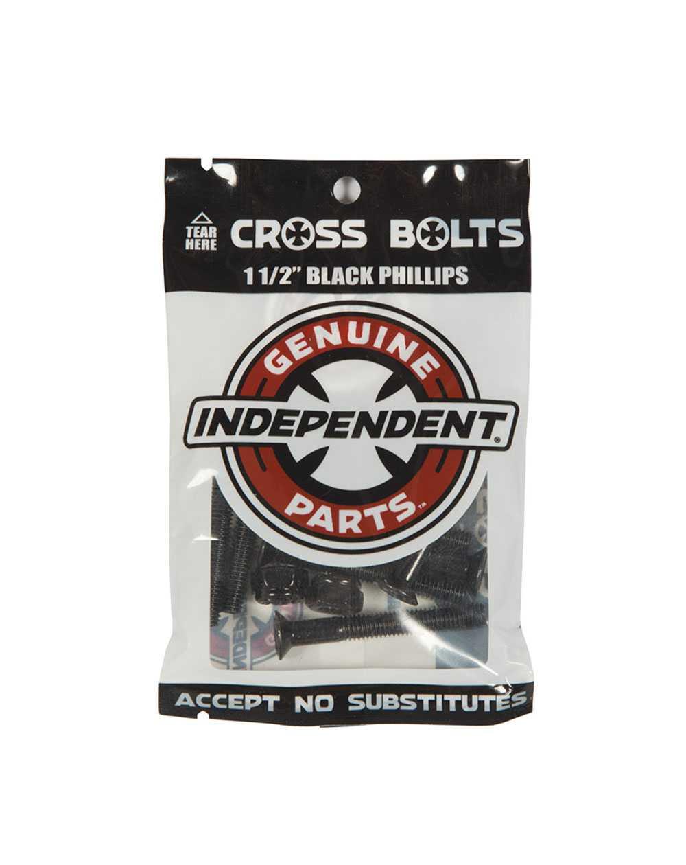 """Independent Visserie Skateboard Genuine Parts 1.50"""" Phillips Black"""