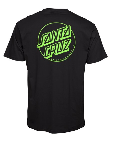 Santa Cruz Outline Dot T-Shirt Uomo Black