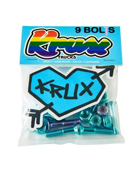 """Krux Parafusos de Base Skate Krome 1"""" Phillips Blue/Lavendar"""