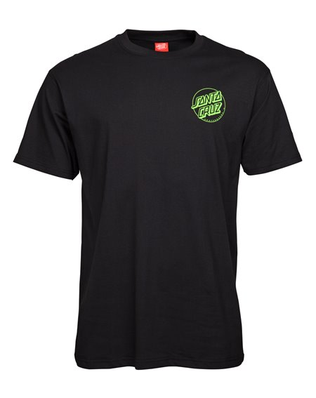 Santa Cruz Men's T-Shirt Outline Dot Black