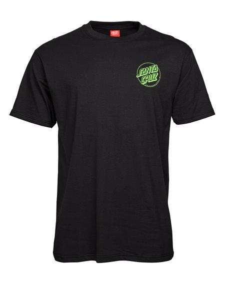 Santa Cruz Outline Dot T-Shirt Homme Black