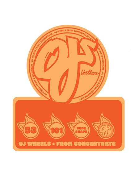 OJ From Concentrate Hardline 53mm 101A Skateboard Wheels pack of 4