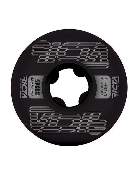 Ricta Framework Sparx 53mm 99A Skateboard Räder Black 4 er Pack