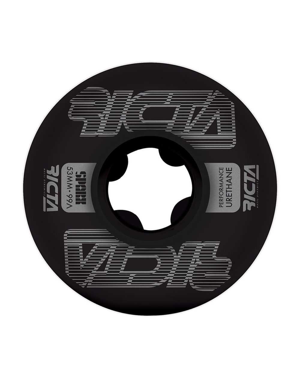 Ricta Ruote Skateboard Framework Sparx 53mm 99A Black 4 pz
