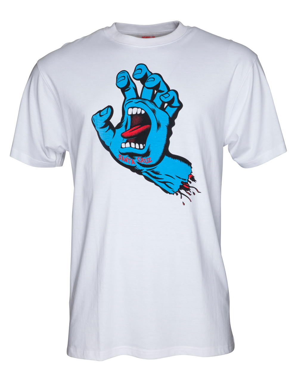 Santa Cruz Men's T-Shirt Screaming Hand White