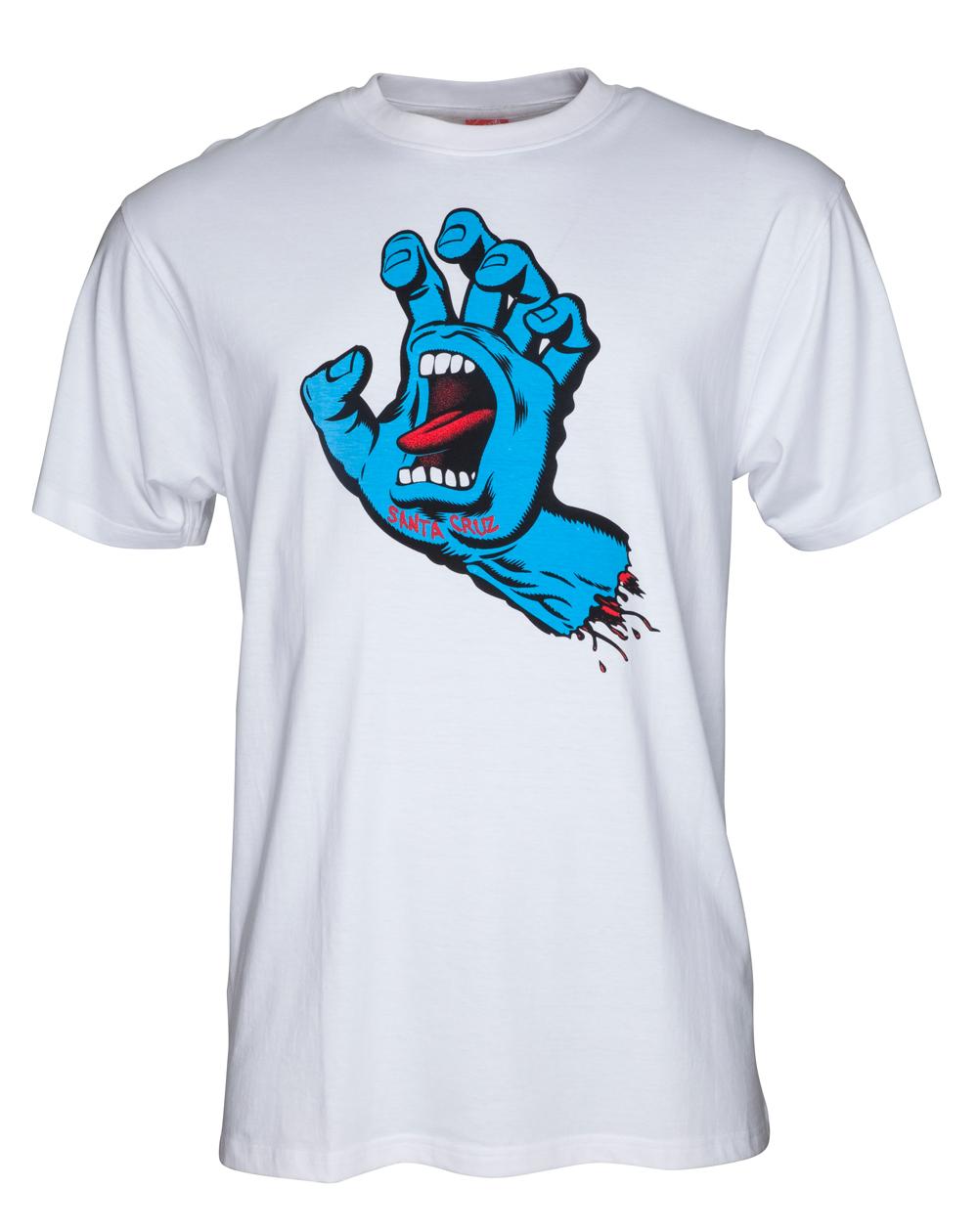 Santa Cruz Screaming Hand Camiseta para Homem White
