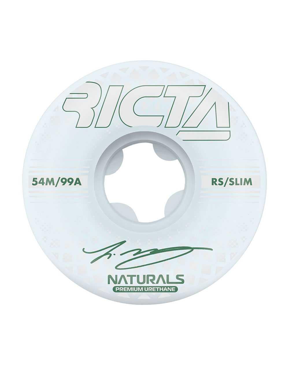 Ricta McCoy Reflective Naturals Slim 54mm 99A Skateboard Wheels pack of 4