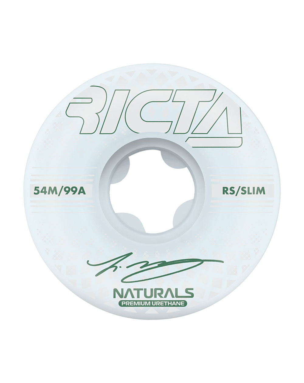 Ricta Ruote Skateboard McCoy Reflective Naturals Slim 54mm 99A 4 pz