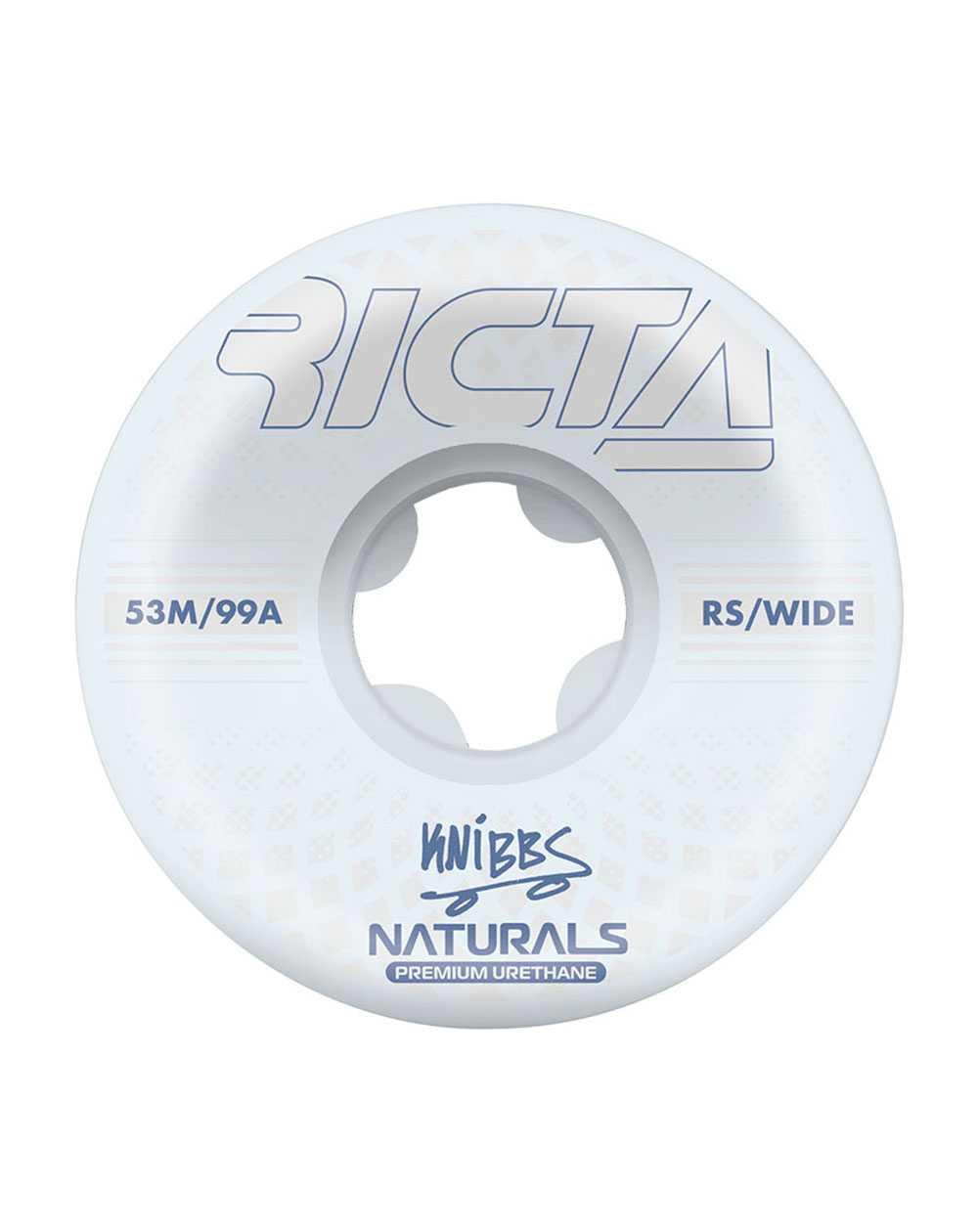 Ricta Rodas Skate Knibbs Reflective Naturals Wide 53mm 99A 4 peças
