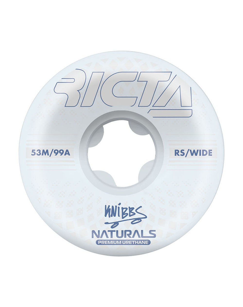 Ricta Ruote Skateboard Knibbs Reflective Naturals Wide 53mm 99A 4 pz