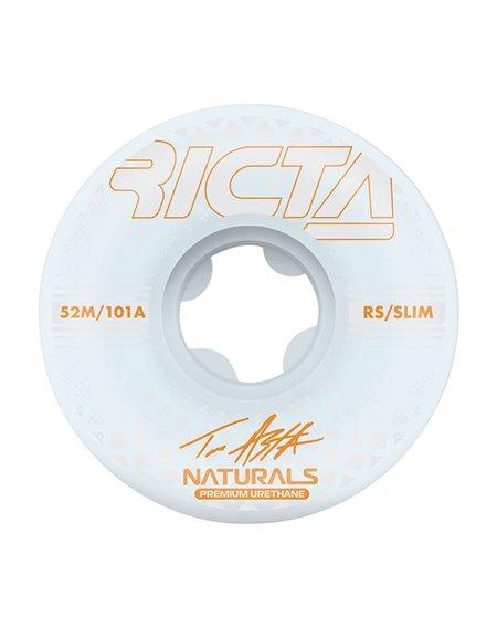Ricta Asta Reflective Naturals Slim 52mm 101A Skateboard Räder 4 er Pack