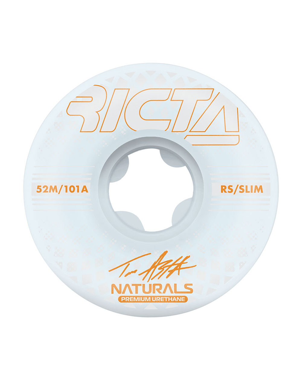 Ricta Asta Reflective Naturals Slim 52mm 101A Skateboard Wheels pack of 4