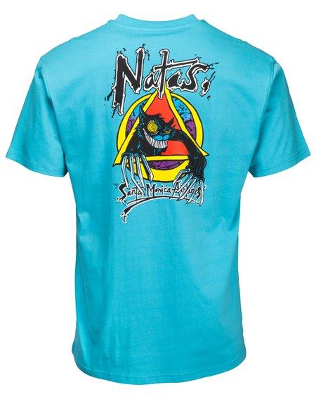 Santa Cruz OGSC Natas Evil Cat Camiseta para Homem Vintage Blue