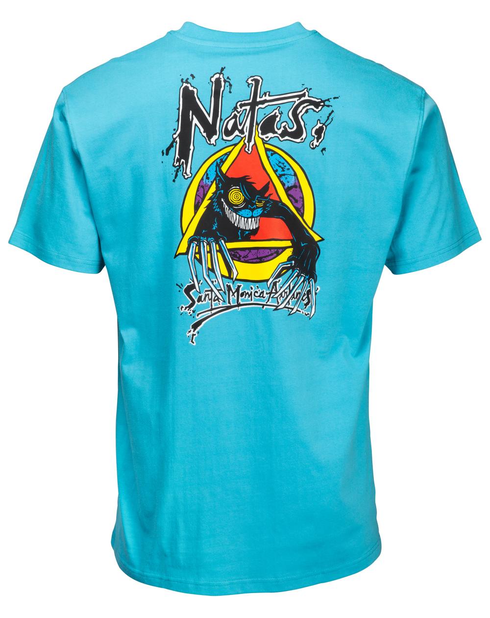 Santa Cruz Men's T-Shirt OGSC Natas Evil Cat Vintage Blue