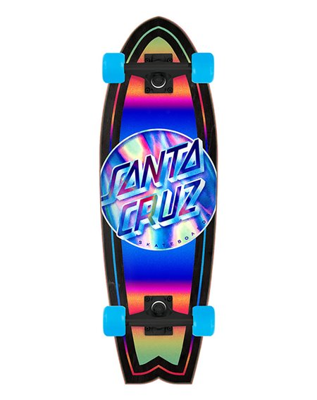 "Santa Cruz Skate Cruiser Iridescent Dot 27.7"""