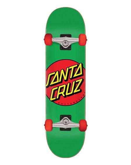 """Santa Cruz Classic Dot Mid 7.8"""" Komplett-Skateboard Green"""