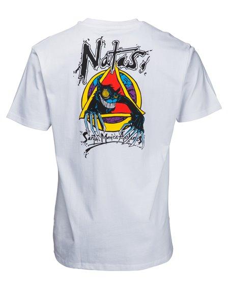 Santa Cruz OGSC Natas Evil Cat Camiseta para Hombre White