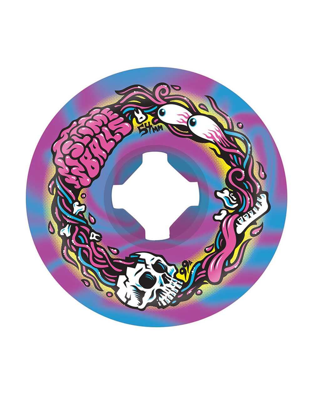 Slime Balls Ruote Skateboard Brains Speed Balls 54mm 99A 4 pz