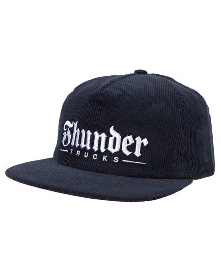 Thunder Herren 5 Panel Baseball Cap Script Navy