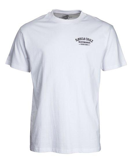 Santa Cruz Blackletter T-Shirt Uomo White