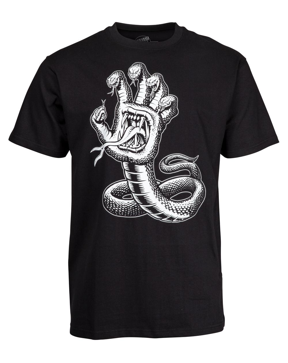 Santa Cruz Men's T-Shirt Hissing Hand Black