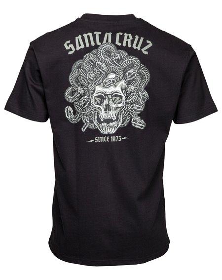 Santa Cruz Medusa T-Shirt Uomo Black
