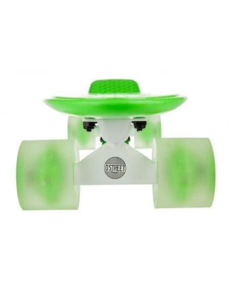 D-Street Poly Prop Neon Flash Skateboard Cruiser Green