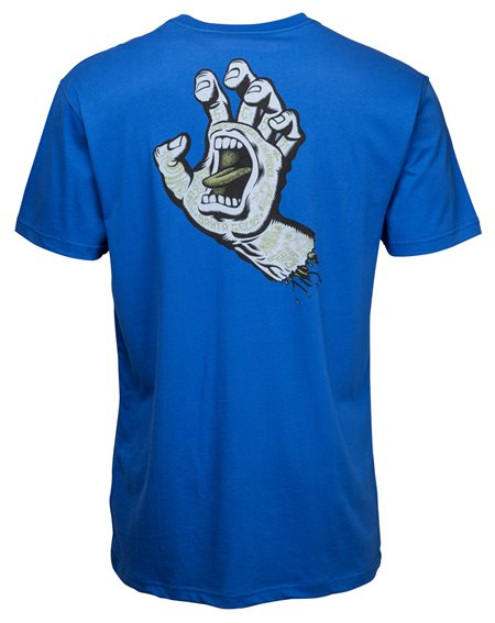 Santa Cruz Men's T-Shirt Tattoo Hand Strong Blue