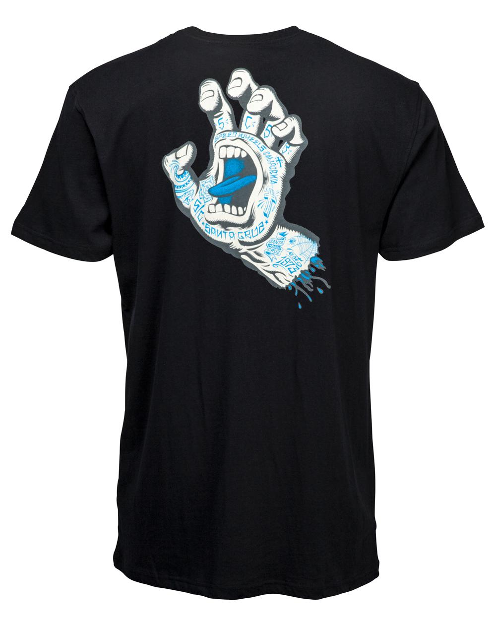 Santa Cruz Herren T-Shirt Tattoo Hand Black