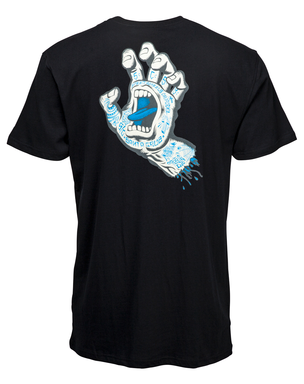 Santa Cruz Men's T-Shirt Tattoo Hand Black