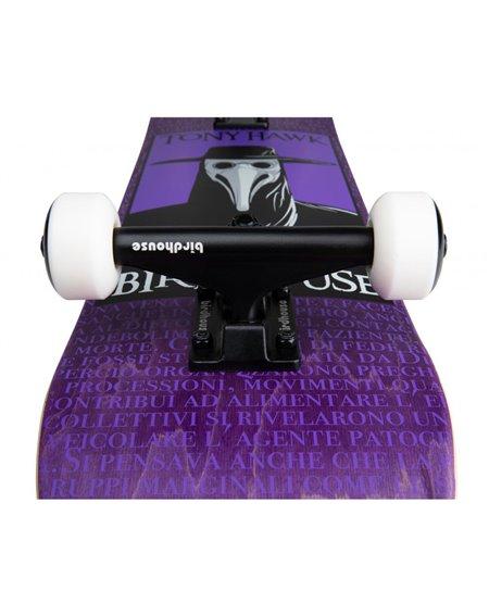 "Birdhouse Plague Doctor 7.5"" Complete Skateboard Purple"