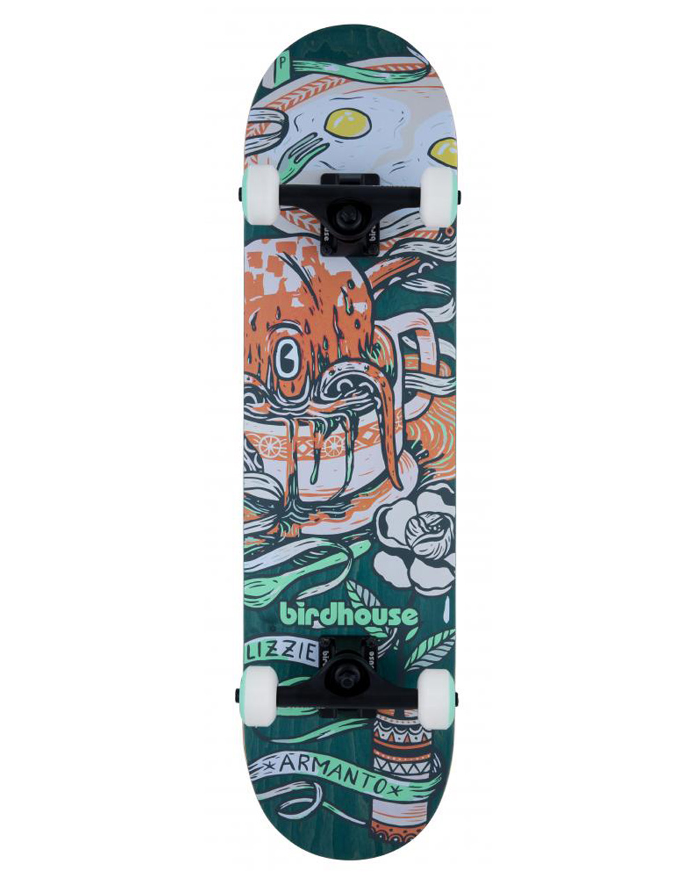 "Birdhouse Skateboard Armanto Favorites 7.75"" Green"