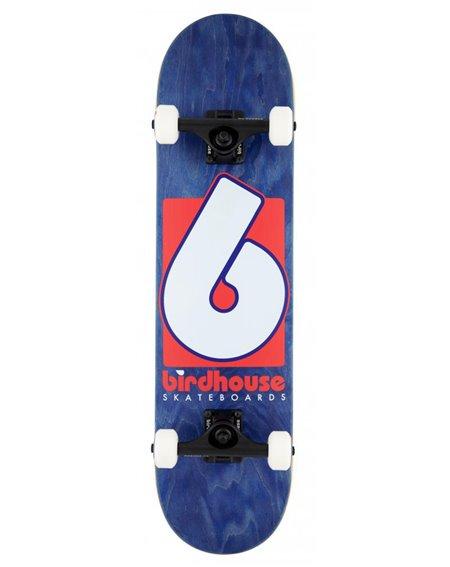 "Birdhouse Skateboard Completo B Logo 7.75"" Navy/Red"