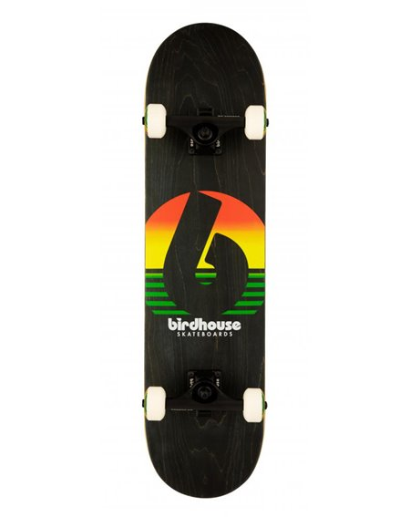 "Birdhouse Rasta Sunset 7.75"" Complete Skateboard Black"