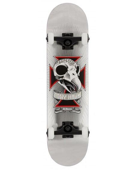 "Birdhouse Skateboard Completo Hawk Skull 2 7.75"" Chrome"